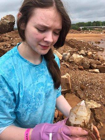 Jessieville, AR: Her first big find, one of 3!