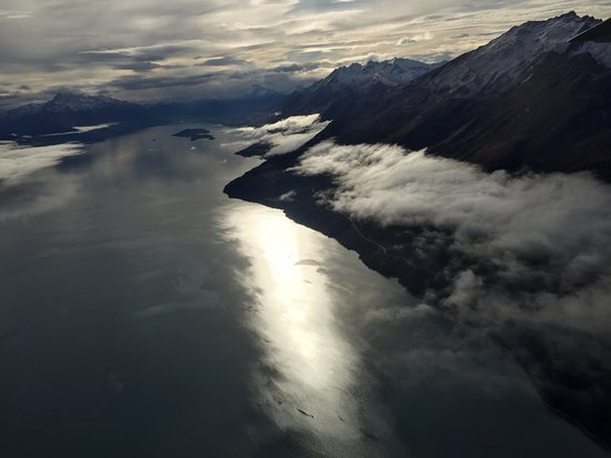 Milford Sound Scenic Flyover ex Queenstown: Looking down to Glenorchy