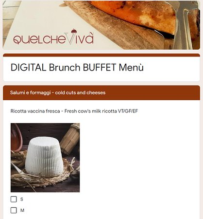 Il nostro digital buffe, perfetto in tempo di COVID! Our digital buffe, perfect in COVID time!