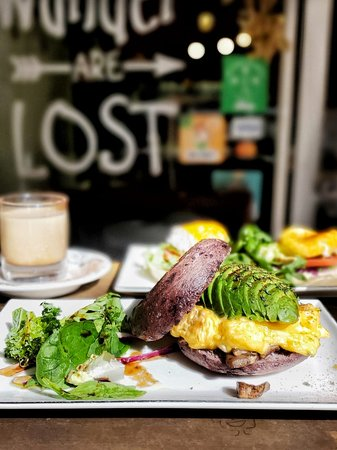 Bagel Avocado · Scrambled Egg · Portobello