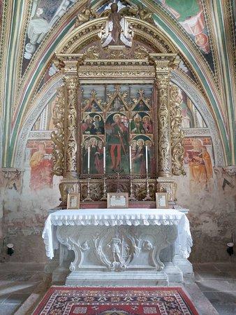 Forni di Sopra, Taliansko: La pala (i nomi dei santi sono scritti in friulano!)