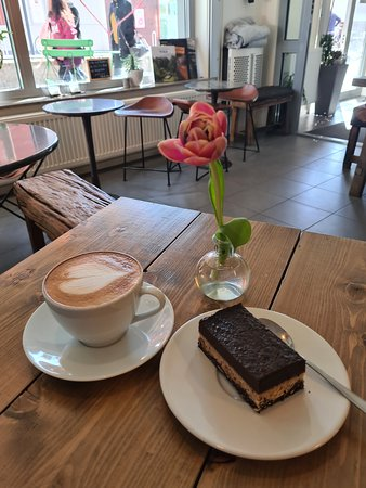 Delicious Vegan snickers and good coffee