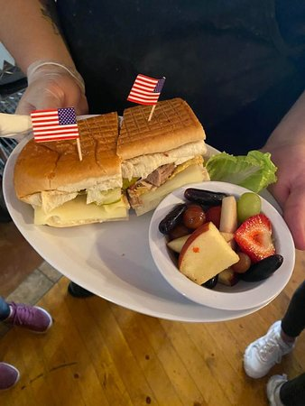 Cubano and Fruit Bowl