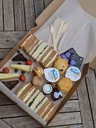 Afternoon Tea Picnic Box for two - perfect as an indulgent treat or a gift on someone's special day!