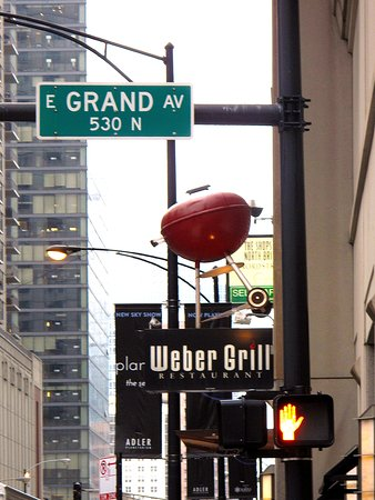 Weber Grill corner of N State and Grand in River North - Great Burgers!