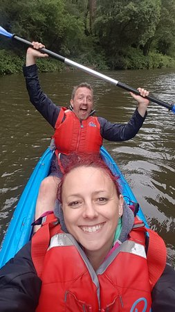 Tandom kayaking fun!