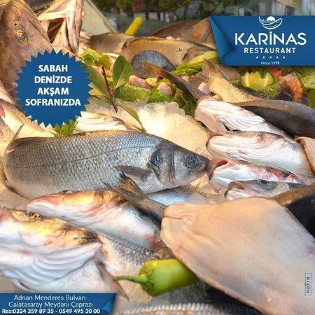 Mersinde kaliteli lezzetin adresi Karinas Restaurant.  ☎️0324 359 89 35 📱0549 495 30 00 🍸Alkollü Mekan 🤹🏻♂Çocuk Oyun Parkı 🌞Açık Alan Var 👮Otopark Var 📌Toplantı salonu