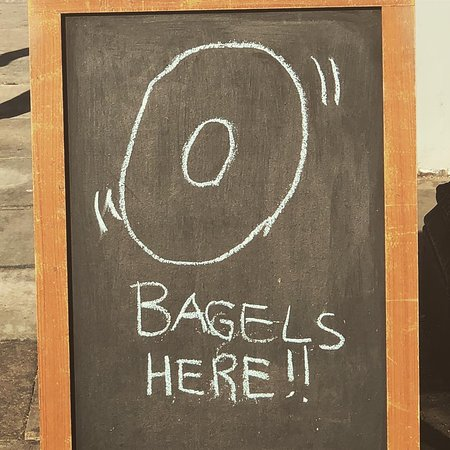 Bagel ad board