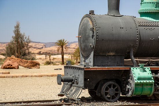 Al Ula, Arab Saudi: The Hijaz Railway ran from Damascus to Madinah and is named after the Hijaz region of northwestern Saudi Arabia. An ambitious project begun in the early 20th century, further construction was abandoned due to the outbreak of the First World War.