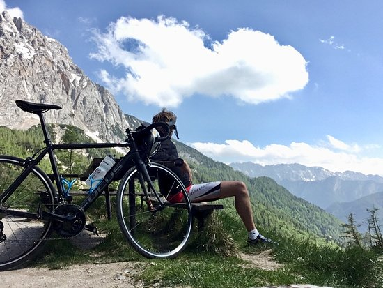 Our race bikes are running in Vršič pass. that highest pass in Slovenija