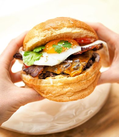 Burger haricot rouge/bacon