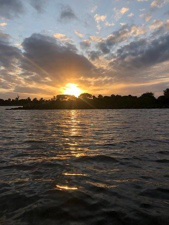 Sunset during Full Moon on the Lagoon