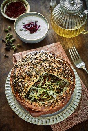 LAMB DUM BIRYANI Aged Basmati Rice,Saffron,Rose Water,Home Ground Spice Mix