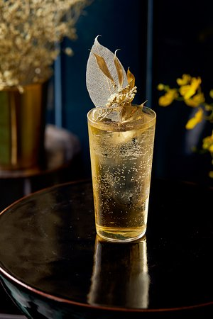 """""""France"""", a refreshing mix of Vermouth, Sauterne Liqueur, Verjus and Absinthe"""