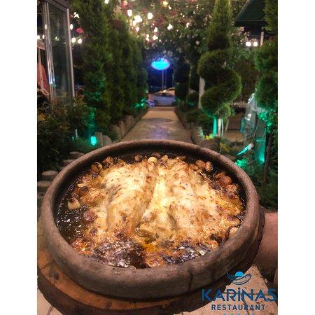 Kiremitte özel soslu levrek balığı  ;)