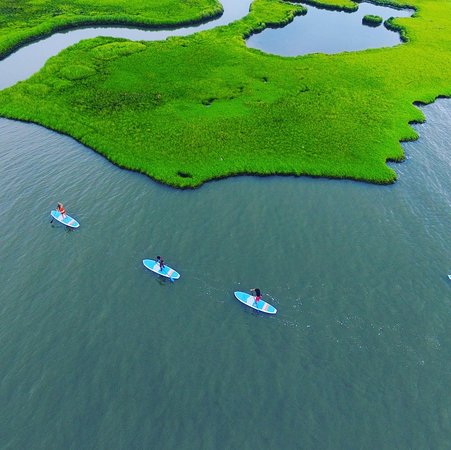 Dewey Beach, DE: Go on a kayaking or paddle boarding excursion away from the crowds.  Masks are not required on the water in Delaware.