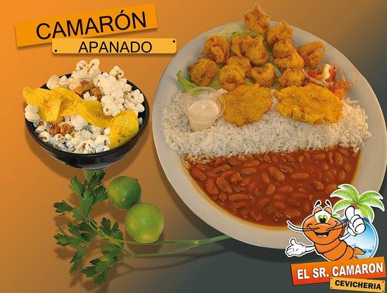 Atuntaqui, Ecuador: Una apanadura crocante envuelve el sabor inigualable de camarones frescos
