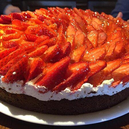 Tarte aux fraises, maison