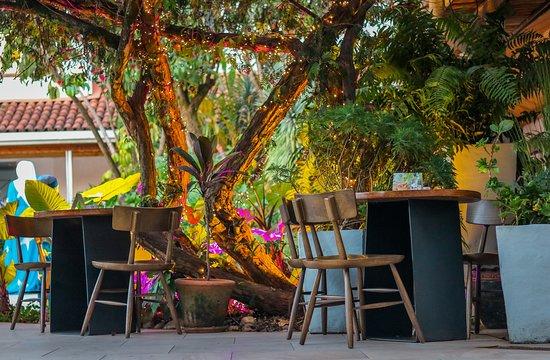 Evenings outdoor seating at Karel