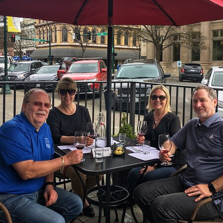 Our outdoor patio on Main St.