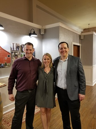 Team member Carl (left) with owners Jen & Tim Armstrong.