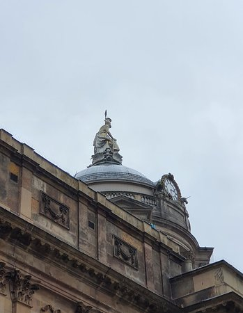 Beautiful statue atop Liverpool Town Hall.
