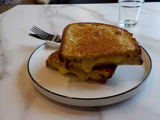 double cheese and mustard toasted sandwich