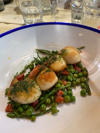 Scallops to start with - wonderful