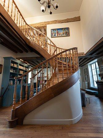 Escalier de l'entrée de la maison d'hôtes