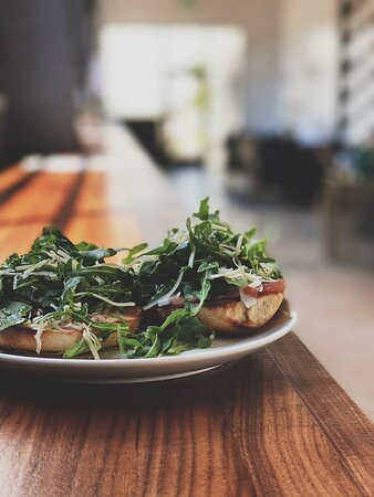 This is one of Bristlecone's Signature Bagel Sandwiches.