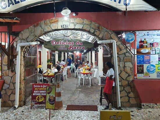 Delicias da Barra: Entrada da lancheria