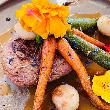 Poire de bœuf et ses minis légumes rôti
