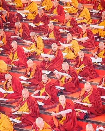 "A million mani prayers to the Compassionate Buddha 🙏  "" Om Mani Padme Hum"" which translates to ""Hail to the jewel in the lotus.""  # travel  #bhutan  #bhutantours  #bhutanvisa   #yelhabhutan  # bhutantravel"