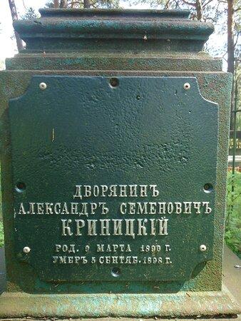 """Bohoniki, Polonya: Zwracał uwagę stary nagrobek młodego 'panicza """" z metalową tablicą i osobnym ogrodzeniem ."""