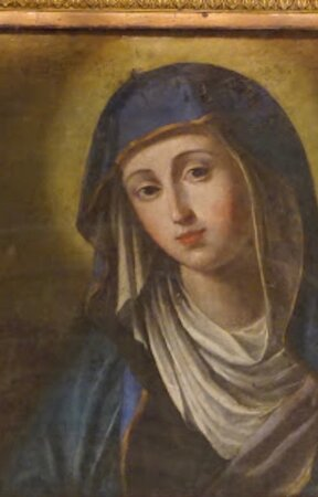 Thi miracolous icon was painted  by Domenico Maria Muratori, who was pupil of Carracci.