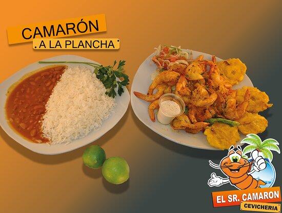 Atuntaqui, Ecuador: Si prefieres unos deliciosos camarones a la plancha muy saludables y con el único sabor que nos caracteriza