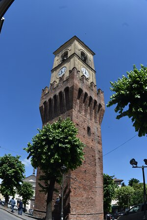 Stradella, Italy: the bell tower and the castle tower