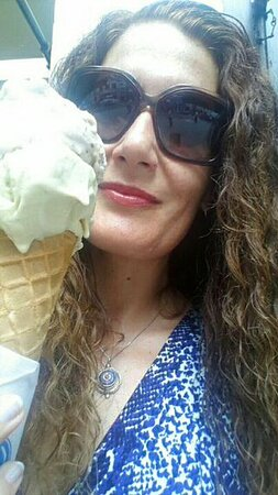 Enjoying a delicious ice cream from Gelatorino.