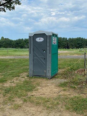 Linvilla Orchards portable toilet