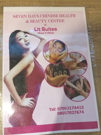 Pamphlet for Seven Days Chinese Health and Beauty Center @ Lit Suites.