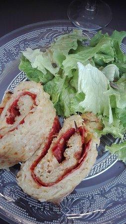 gâteau pomme de terre, chorizo, emmental, 8.9€