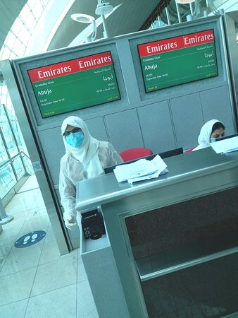 Emirates: About to board.