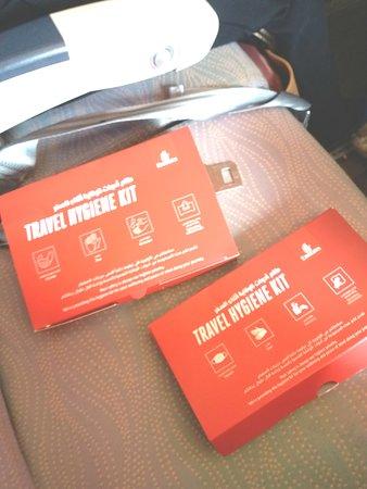 Emirates: Travel Hygiene Kit.