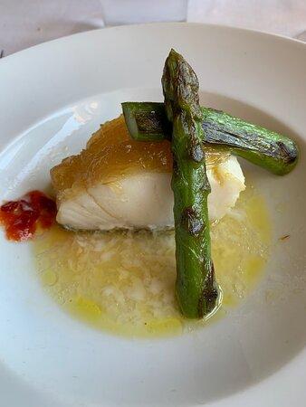 Casas Nuevas, Espanha: Bacalao and asparagus
