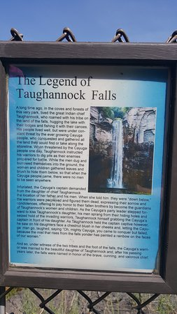 the legend of Taughannock Falls