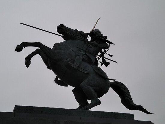 Mogami Yoshiaki Horse-riding Statue