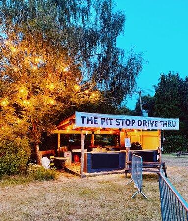 Our dive thru Pit Stop burger bar - during lockdown