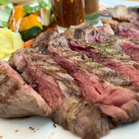 #สเต็กเนื้อสันเอวออสเตรเลีย ฿320.-