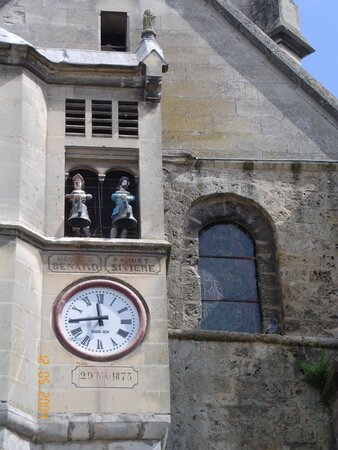 Les Jacquemarts de la Collégiale Notre-Dame d'Auffay Val-de-Scie  Photo ©Office de Tourisme Terroir de Caux