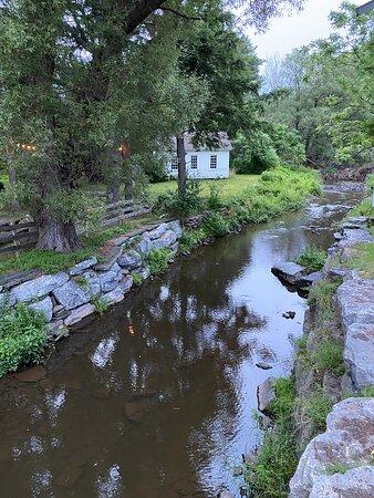 Hobart, NY: Creek next to the Inn's beer garden